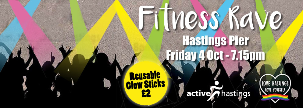 Fitness Rave at Hastings Pier advert
