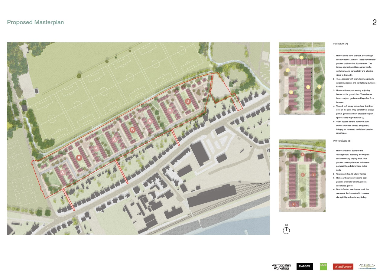 Image of proposed amsterplan information board