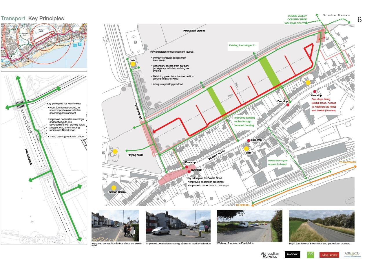 Image of transport key principles information board