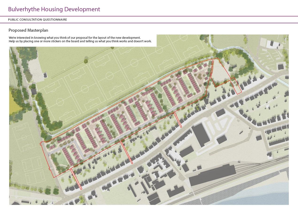 Image of proposed masterplan sticker map