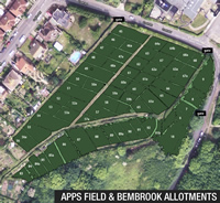 Apps Field Allotments aerial view