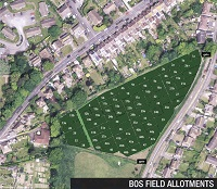 BOS Field Allotments aerial view