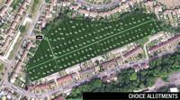 Choice Allotments aerial view