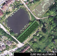 Lower Clive Vale Allotments aerial view