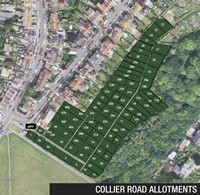 Collier Road Allotments aerial view