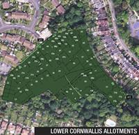 Lower Cornwallis Allotments aerial view