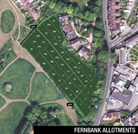 Fernbank Allotments aerial view