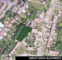 Harley Shute Allotments aerial view