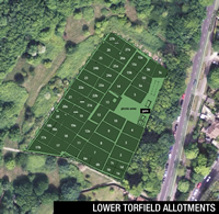 Lower Torfield Allotments aerial view