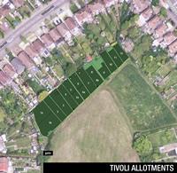 Tivoli Allotments aerial view