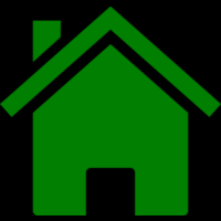Icon showing a green coloured house