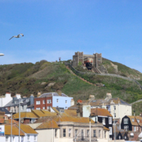 Photo of the East Hill lift taken from the seafront